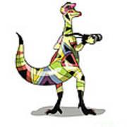 Illustration Of An Iguanodon Art Print