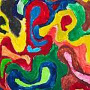 Image Of Multicolored Painting Art Print