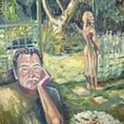 In The Garden Art Print by Ellen Howell