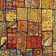 Indian Patchwork Carpet Art Print