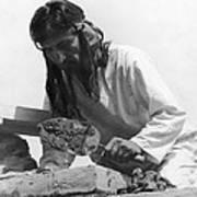 Indians Building Missions Art Print