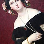Ingres' Madame Moitessier Abstract Art Print