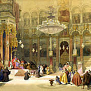 Inside The Church Of The Holy Sepulchre Art Print