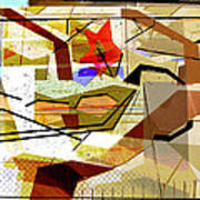 Interstate 10- Exit Out West- Where Life Begins New- Rectangle Remix Art Print