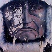 Iron Eyes Cody Homage The Big Trail 1930 The Crying Indian Black Canyon Arizona 2004 Art Print
