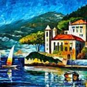 Italy Lake Como Villa Balbianello Art Print