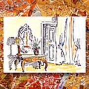 Italy Sketches Venice Hotel Art Print