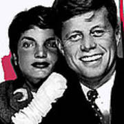 Jackie And Jack Kennedy In A Photo Booth Snap No Known Location 1953-2013 Art Print