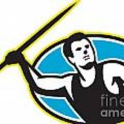 Javelin Throw Track And Field Athlete Art Print