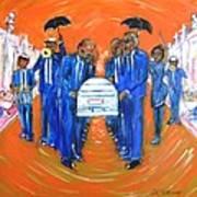 Jazz Funeral Art Print by Aaron Harvey