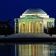 Jefferson Memorial At Night Art Print