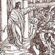 Jesus Cleansing The Temple Art Print