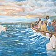 Jesus Walking On Water Art Print
