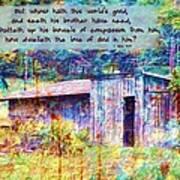 1 John 3 17 Art Print