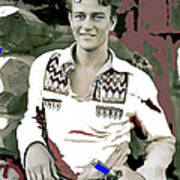 John Wayne In Buckskins The Big Trail 1930-2013 Art Print
