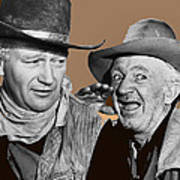 John Wayne Walter Brennan Publicity Photo Red River 1948-2013 Art Print