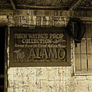 John Wayne's Prop Collection The Alamo Old Tucson Arizona 1967-2009 Art Print