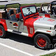 Jurassic Park Jeeps Art Print
