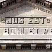 Jus Est Ars Boni Et Aequi Art Print
