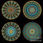 Kaleidoscope Steampunk Series Montage Art Print by Amy Cicconi