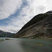 Kayaking To The Nigardsbreen Glacier Art Print