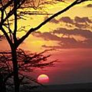 Kenyan Sunset Art Print