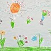 Kid's Artwork Art Print