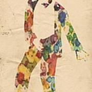 King Of Pop In Concert No 6 Art Print