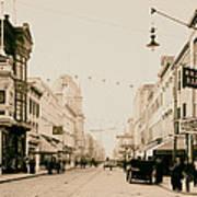 King Street In Charleston South Carolina Circa 1910 Art Print