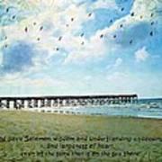 1 Kings 4 29 Pier Art Print