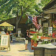 Kirkwood Farmers Market American Flag Art Print