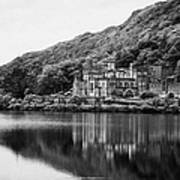 Kylemore Abbey Reflected In The Lake Connemara Galway Ireland Art Print