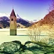 Lago Di Resia - Alto Adige Art Print