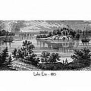 Lake Erie - 1815 Art Print