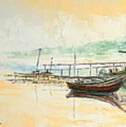 Lake Impression Art Print