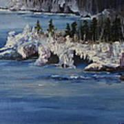 Lake Superior Ice Storm Art Print