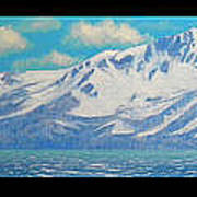 Lake Tahoe After The Storm Triptych Art Print