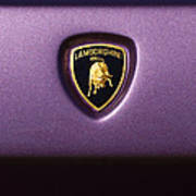 Lamborghini Diablo Se Roadster Emblem Art Print