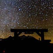 Last Dollar Gate And Milky Way Starry Art Print