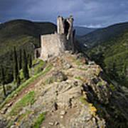 Lastours Castle Print by Ruben Vicente