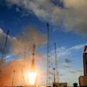 Launch Of Soyuz Vs07 2014 Art Print