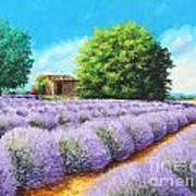 Lavender Lines Art Print