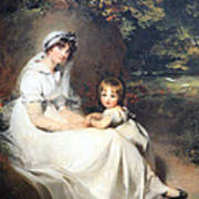 Lawrence's Lady Mary Templetown And Her Eldest Son Art Print