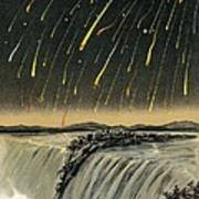 Leonid Meteor Shower Of 1833 Art Print