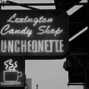 Lexington Candy Shop In Black And White Art Print