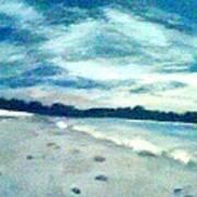Lido Beach Evening Art Print