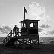 Lifeguard Hut On The Beach, 22nd St Art Print