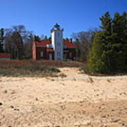 Lighthouse - 40 Mile Point Michigan Art Print