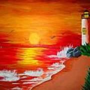 Lighthouse Art Print by Haleema Nuredeen