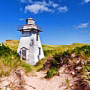 Lighthouse On The Dunes Art Print